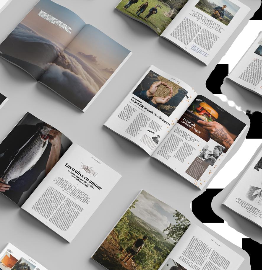 Magazines ouverts à différentes pages